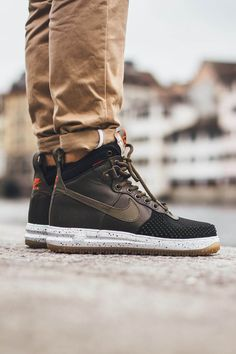 NIKE Lunar Force 1 Duckboot Black Crimson Линия Кроссовок Nike Lunar, Мода  От Найк 89076eef097