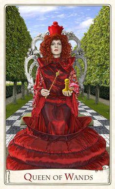 Queen of Wands, Alice Tarot, Baba Studio