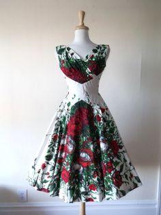 VTG 1950's ALIX OF MIAMI Cotton Sun Dress Sz S | eBay by Small Flower
