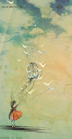 The loved birds by Luminatii - pretty illustration! Art Et Illustration, Illustrations, Inspiration Art, Art Design, Oeuvre D'art, Amazing Art, Awesome, Cool Art, Art Photography