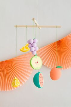 DIY Fruit Salad Party Mobile | Oh Happy Day!
