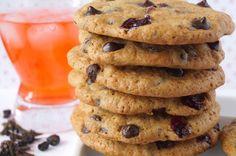 De Cupcakes.: Cookies de Nueces, Chocolate y Arándanos rojos.