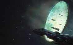 """alienspaceshipcentral: """"ceptart: """"Leviathan by moonxels """" If you like Science Fiction then why not check out these sites to see what else you might enjoy! Our home at Alien Spaceship Alien Species. Alien Spaceship, Spaceship Concept, Concept Ships, Concept Art, Cyberpunk, Science Fiction Kunst, Sci Fi Spaceships, David, Paintings"""