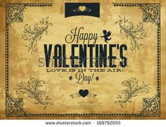 Happy Valentines Day - Typography Background
