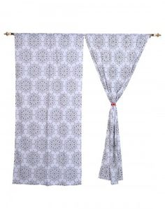 Shop for best quality cotton door curtains online at Rajrang. Get the varieties of windows and door curtains on our website.