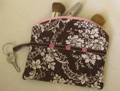 Multi Purpose Zippered Pouch  Double Sided by ktkollections, $8.00
