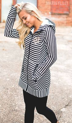 Our Monogrammed Striped Yoga Jackets are a MUST for your work out! Snag one now in black, mint, or stripes!