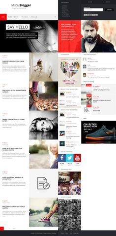 Web Design / block, red, web design, concept, layout, minimal