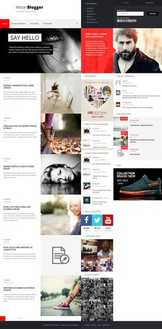 Web Design / block, red, web design, concept, layout, minimal