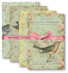 Hey, I found this really awesome Etsy listing at https://www.etsy.com/listing/94111398/french-postcards-with-birds-digital