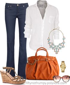 """""""The Statement Necklace"""" by fiftynotfrumpy ❤ liked on Polyvore"""