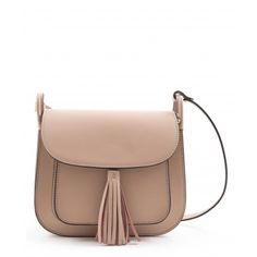 Leather crossbody bag. Adjustable shoulder strap.