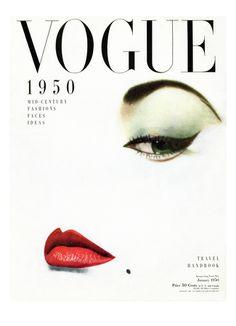 Vogue Cover - January 1950 by Erwin Blumenfeld. Art print from Art.com.