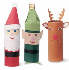 Simple DIY Christmas Craft Ideas for Kids - Santa and Crew - Click PIN for 25 Holiday Decoration Ideas