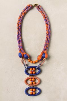 Love the colors in this. Great mix of cord and beads.