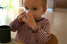 great post about one year olds and using real cups