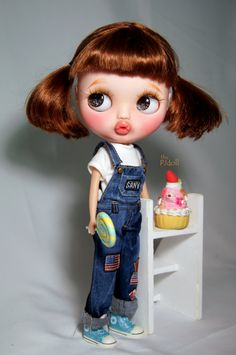 thePJdoll RESERVED Pikachu Custom Blythe Doll/OOAK por ThePJdoll