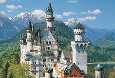 Schloss Neuschwanstein (Bavaria) is 19th-century Romanticism pure. The highlight of Mad King Ludwig's building fantasies, it inspired Disney. Ludwig's other palaces – Herrenchiemsee and Linderhof – are worth seeing too.