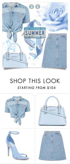 """""""Summer in blue"""" by sing-forthelife ❤ liked on Polyvore featuring GUESS, Armani Jeans, Rachel Zoe, M.i.h Jeans and Kiki mcdonough"""