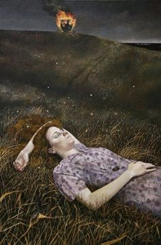 Symbolist painter Andrea Kowch (American: 1986)