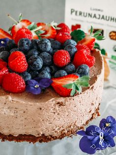 Finnish Recipes, Dessert Recipes, Desserts, Something Sweet, Treat Yourself, Deli, Food Inspiration, Cheesecake, Food And Drink