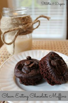 Clean Eating Chocolate Muffins. Gluten Free and Low Calorie, too.