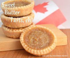 Butter Tarts - A Quintessential Canadian Dessert - My Island Bistro Kitchen Recipe For Butter Tarts, Canadian Butter Tarts, Pastry Recipes, Tart Recipes, Dessert Recipes, Cookie Desserts, Candy Recipes, Dessert Bars, Healthy Desserts