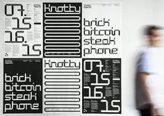 Identity and typography for Knotty Objects, the inaugural MIT Media Lab Summit. Pentagram