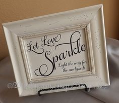 Let Love Sparkle Light the way for the newlyweds!