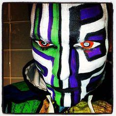 #jeffhardy Face Painting Designs, Body Painting, Jeff Hardy Face Paint, Best Wwe Wrestlers, Hardy Brothers, Wwe Jeff Hardy, Power Rangers 2017, The Hardy Boyz, Fantasy Dress