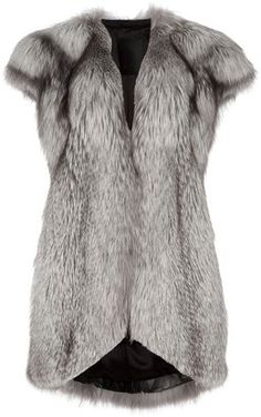 ShopStyle: Liska Fox fur gilet
