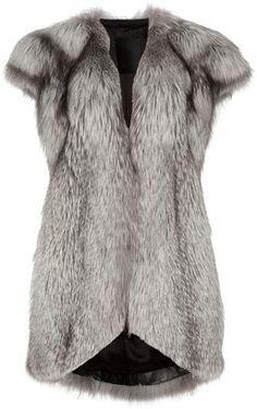 ShopStyle: Liska Fox fur gilet