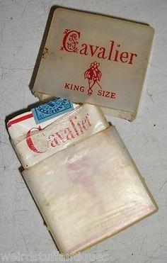 vintage Cavalier cigarette pack holder clear plastic king size