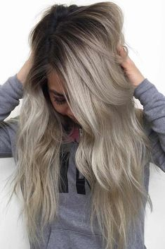 #Color Trendy Hair Color : Ash blonde hair is quite popular these days. You will just need to pick the flat... #haircolor