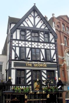 The George on The Strand in London. Founded in 1723, and directly facing the spectacular architecture of the Royal Courts of Justice, The George is a traditional pub. (not to be confused with The Geoge Inn in Southwark, London) ~