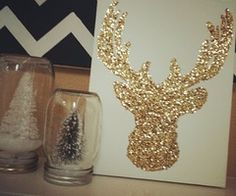 do it myself / Christmas Card Idea!!?? Glitter Reindeer DIY...sweet!