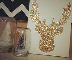 do it myself / Christmas Card Idea!!?? Glitter Reindeer DIY...sweet!