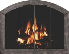 Bi-fold glass doors, whether are tracked or trackless, will help you heat your open fireplace more efficiently. Fireplace Glass Doors, Fireplace Screens, Open Fireplace, Pellet Heater, Metal Walls, Cladding, Hearth, Outdoor Living, Family Room