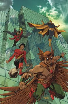 CONVERGENCE: JUSTICE SOCIETY OF AMERICA #2 Written by DAN ABNETT Art by TOM DERENICK and TREVOR SCOTT Cover by DAN PANOSIAN Variant cover designed by CHIP KIDD