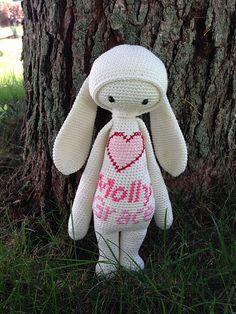 RITA the rabbit made by Amanda / crochet pattern by lalylala
