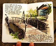 yet another great sketch for travel journaling Moleskine, Travel Sketchbook, Arte Sketchbook, Sketch Journal, Artist Journal, Watercolor Sketchbook, Watercolor Art, Nature Journal, Sketchbook Inspiration