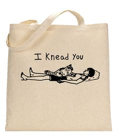 """Cat Bag Book Bag for Cat Lovers Funny Cat by FragglesAndFriggles  The pun on this bag was inspired by my Maine Coon cat who loves to knead my husband. I realized that both """"needing"""" and """"kneading"""" a person are a sign of love! This bag makes a great, useful gift for anyone who loves cats or puns!  #cat"""