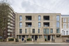 Built by Levitt Bernstein in London, United Kingdom Levitt Bernstein have completed a high density, sustainable, affordable- housing project in Islington, based around t...