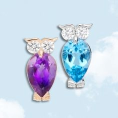 Gufetto Leo Pizzo in white or pink Gold, Diamonds, Amethyst or Blue Topaze, our Lucky Charm in the best Shops.