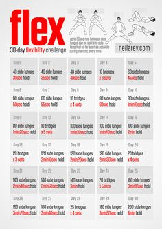 August is already here and with it comes a new fitness challenge. This month, work to improve flexibility and agility with this @neilarey 30-Day Flex Challenge. #30daychallenge #fitnesschallenge #athletictraining