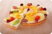 Fruitroom vlaai Vlaai recepten   Smulweb.nl Pie Recipes, Fruit Salad, Biscuits, Bakery, Goodies, Cooking, Desserts, Crack Crackers, Sweet Like Candy