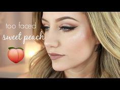 Too Faced Sweet Peach Palette Makeup Tutorial | Jazzi Filipek - YouTube