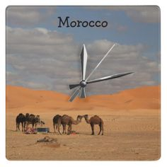 Morocco Wall Clock from Zazzle.com