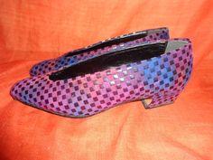 Schuhe.Vintage.Pumps.Lila.80er.36.5*+von+SweetSweetVintage+auf+DaWanda.com