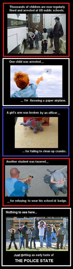 Nothing to see here... just getting an early taste of THE POLICE STATE. More reasons to home school!